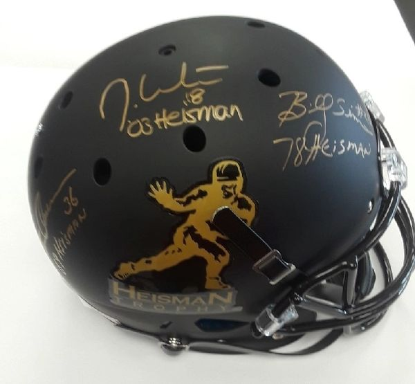 Owens, Sims And White Heisman Winners Signed Helmet Option 1