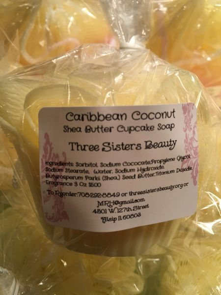 Shea Butter Cupcake Body Soap
