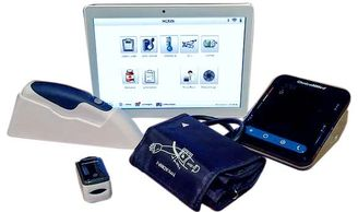 At home eVER-Home remote patient monitoring kit.