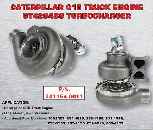 Cat C15 High Mount High Pressure Replacement Turbocharger 741154-9011