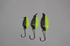 Typhoon Spoons: Silver/Chartreuse