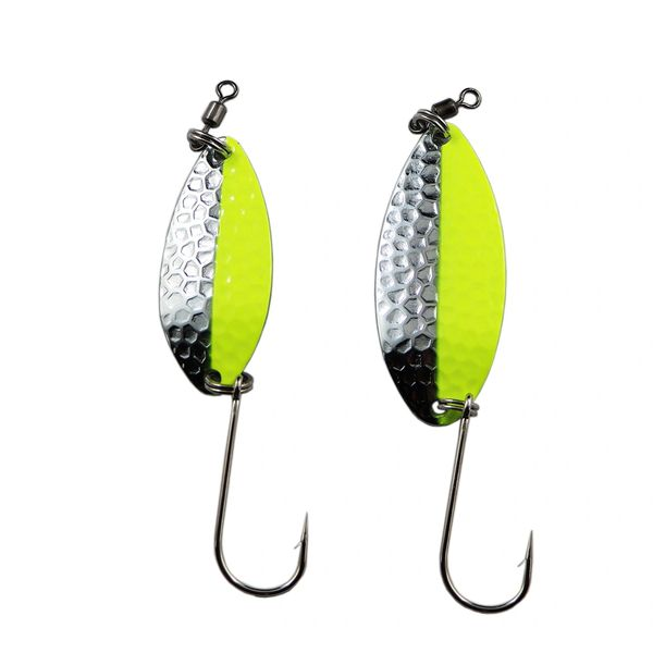 Typhoon Spoons: Chartreuse/Silver