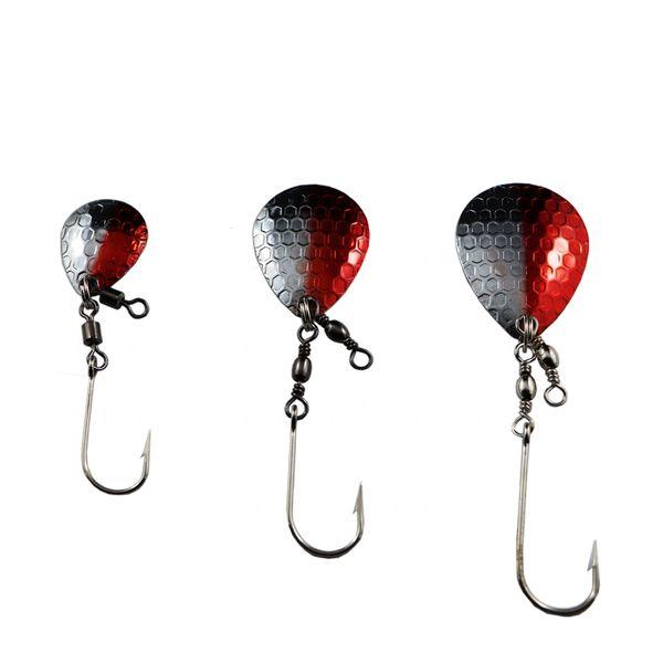 Stinger Blades: (Hammered Finished) - Red/Silver