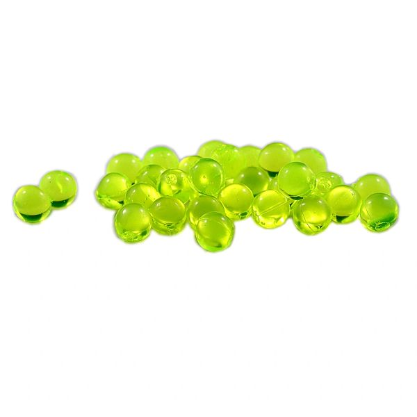 Clear Soft Beads: Chartreuse.