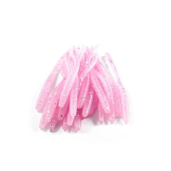 Trout Worms: Light Bubble Gum Glitter Bomb