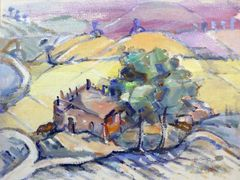 "#172 Pastorale, Syrie - 20""x15"", Gouache on paper"