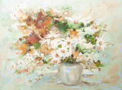 "#276 Guelph Daisies - 30""x22"" Acrylic on board"