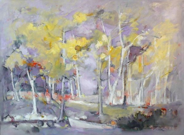 "#007 Birches Left, Ontario - 30""x22"", Oil on board"