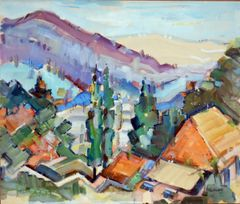 "#254 Ouadi, Syrie - 20""x17"", Watercolour on paper"