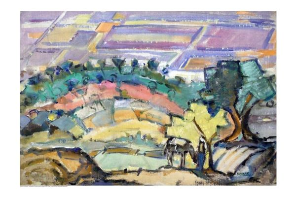 "#238.1 Pastorale, Syrie - 30""x20"", Limited edition reproduction on paper, framed"