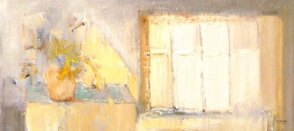 "#128.1 Just The Window - 18""x8"", Limited edition reproduction on mounted canvas, framed"