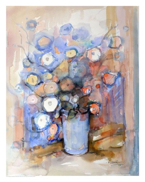 "#148.1 Floral - 24""x30"", Limited edition reproduction on paper, framed"