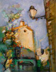 "#136 Vieux Quartier Espagnol, Spain - 22""x28"", Acrylic on stretched canvass."