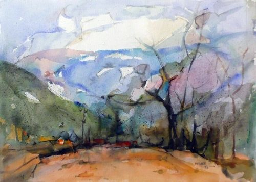 "#259 - The Valley, Ontario - 22""x15"" - 22""x15"", Watercolour on paper"