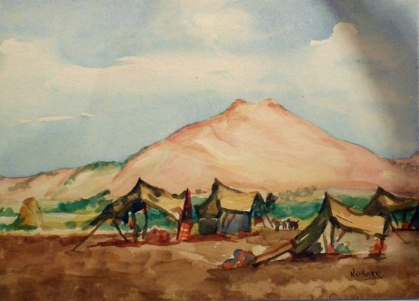 "#210 Les Bedouins, Syrie - 12""x8"", Watercolour on paper"