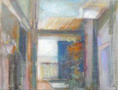 "#193 Porte Bleu, Spain - 21""x16"", Chalk on paper."