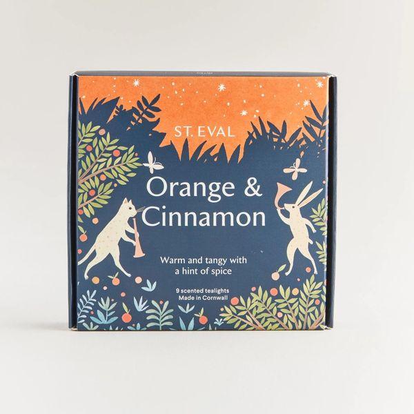 Orange & Cinnamon Scented Tealights