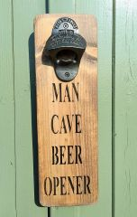 Man Cave Beer Bottle Opener by Austin Sloan