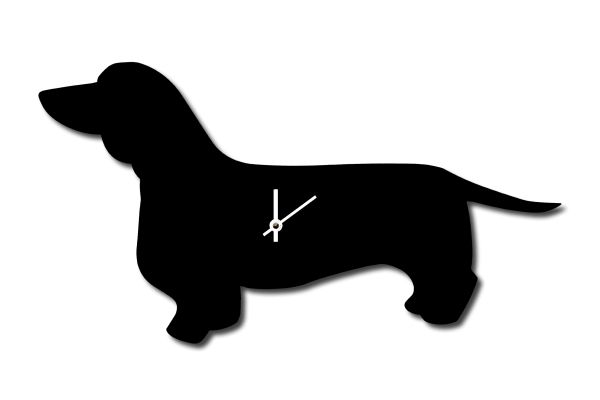 Dachshund Clock with Wagging Tail
