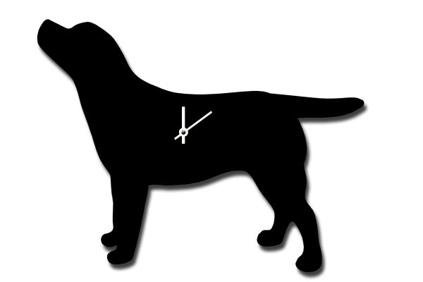 Labrador Clock with Wagging Tail