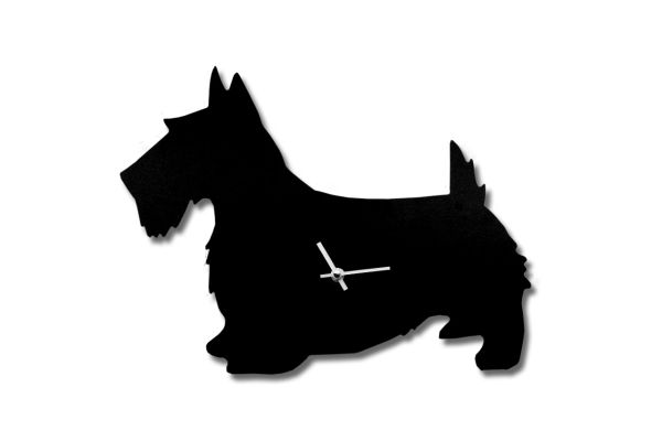 Scottie Dog Clock with Wagging Tail