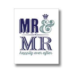 Mr & Mr Wedding / Engagement Card