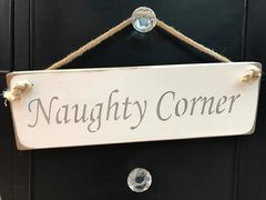 'Naughty Corner' Sign by Austin Sloan