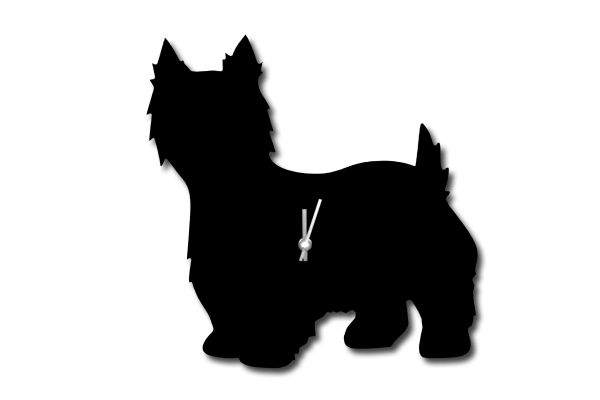 Westie Clock with Wagging Tail