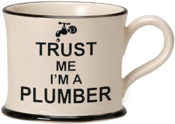 Trust me I'm a Plumber Mug by Moorland Pottery
