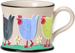 Chicken Run Mug by Moorland Pottery