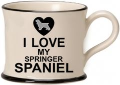 I Love my Springer Spaniel Mug by Moorland Pottery