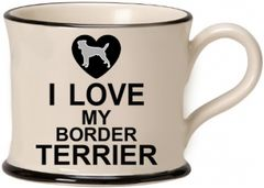 I Love my Boarder Terrier Mug by Moorland Pottery