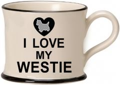 I love my Westie Mug by Moorland Pottery