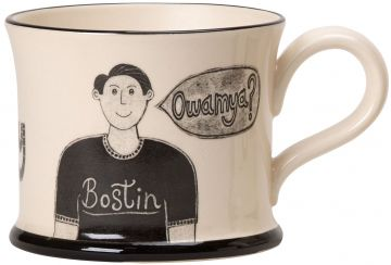 Bostin Black Country Mon Mug by Moorland Pottery