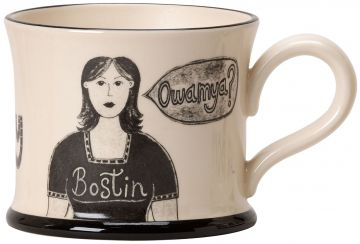 Bostin Black Country Wench Mug by Moorland Pottery