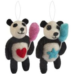 Fairground felt panda decoration