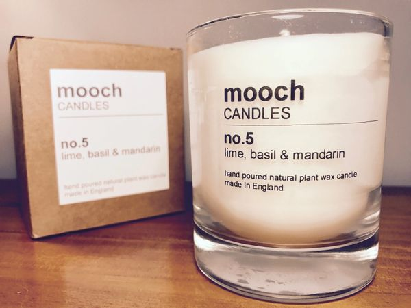 mooch CANDLES no.5 lime, basil & mandarin
