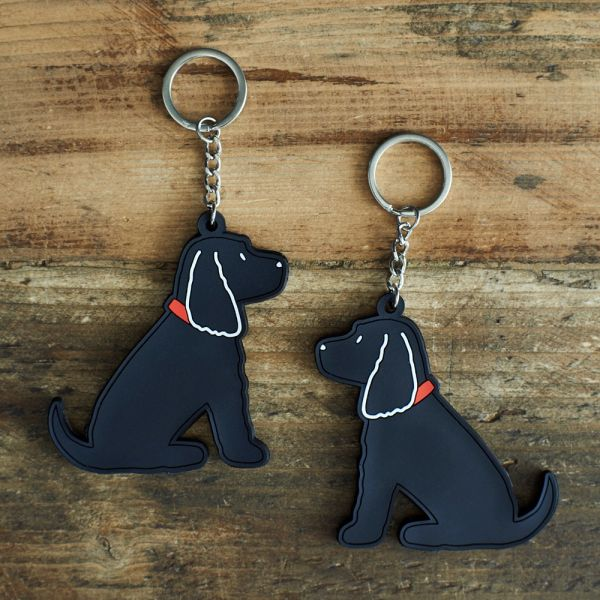 Black Cocker Spaniel Keyring
