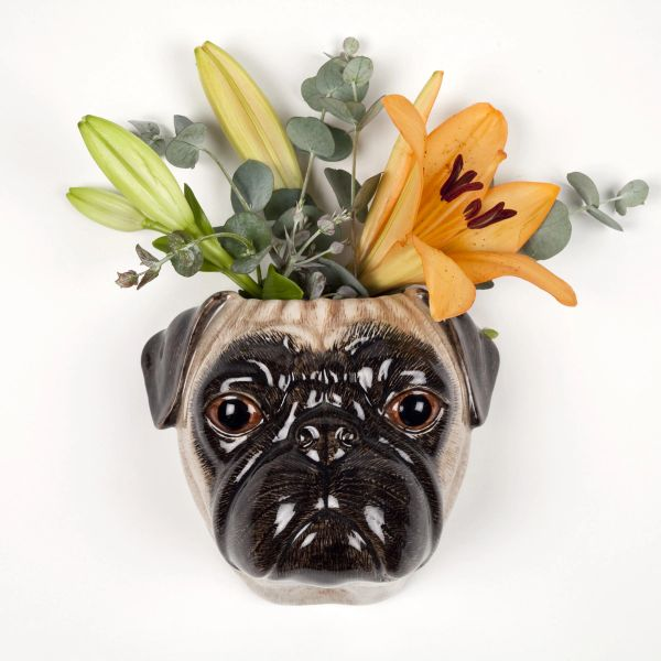 Pug Wall Vase in Fawn by Quail Ceramics