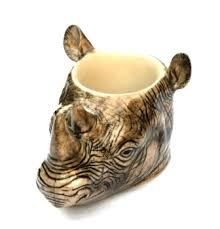 Rhino Egg Cup by Quail Ceramics