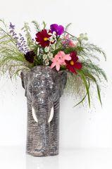 Large Elephant Vase by Quail Ceramics