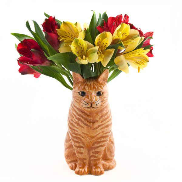Vincent Cat Flower Vase by Quail Ceramics