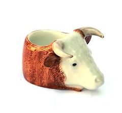 Hereford Bull Face Egg Cup by Quail Ceramics