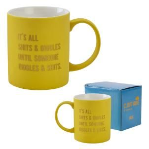 Cloud Nine gift boxed mug '...Shits & Giggles'