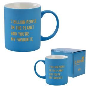 Cloud Nine gift boxed mug '7 Billion people...'