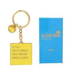 "Cloud Nine gift boxed keyring ""Shits & ..."""