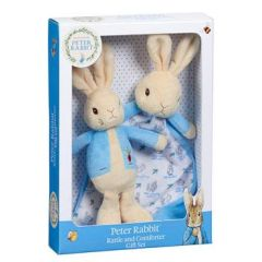 Peter Rabbit Comfort Blanket & Rattle Gift Set