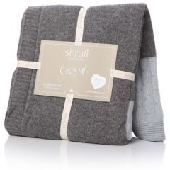 Grey & Blue Knitted Blanket