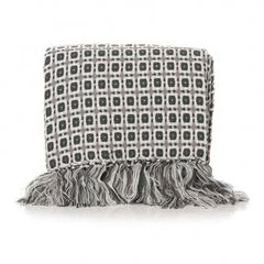 AL ANNI SQUARED GREY Blanket