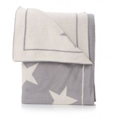 BAC BABY STAR BLANKET in grey